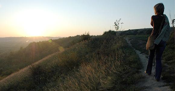 Góry Pieprzowe w Sandomierzu panorama